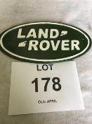 Unissued Cast Iron Land Rover Sign
