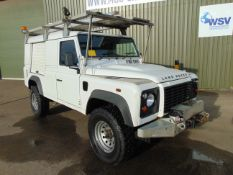 2011 Land Rover Defender 110 Puma hardtop 4x4 Utility vehicle (mobile workshop) with hydraulic winch