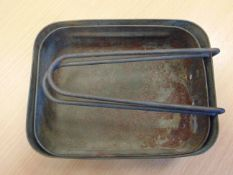 SET OF WW2 BRITISH ARMY MESS TINS FOUND IN NORMANDY IN 1984