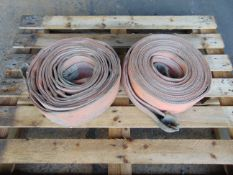 2 x 19.2 Tonne 10m Recovery Flat Slings as shown