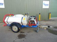 Brendon Powerwasher BB1000 Yanmar Diesel Pressure Washer Bowser Trailer c/w Spray Bar