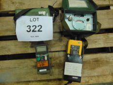 MEGGER OTP 520 POWER METER, FLUKE METER, 2X AIR LOG VOLTAGE DETECTORS MK6