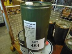 1 x Unissued 25L Sealed Drum of Hydrovane Fluid Force 2000 Compressor Oil