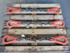 3 x Kuplex 8+10 8 Ton Single Leg Chain Slings