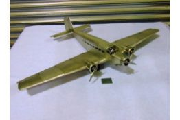 The JUNKERS JU 52 IRON ANNIE Aluminium Scale Model