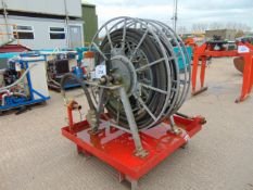 Powered Twin Hose Reel Assembly c/w 110 Volt Electric Motors etc