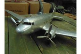 DOUGLAS DAKOTA DC-3 Aluminum Scale Model