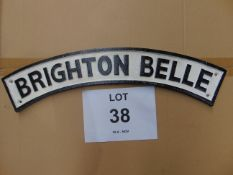CAST IRON BRIGHTON BELLE RAILWAY SIGN