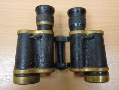 VERY NICE PAIR OF WW 2 KERSHAW BINO PRISM N. 2 MK3 - X6 MAGNIFICATION IN CASE