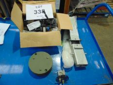 WATER PUMP X 2, SEAT BRACKET, MOUNTING PLATE X 4, FUEL GUAGE UNISSUED.