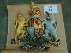 LARGE HAND PAINTED ROYAL CREST