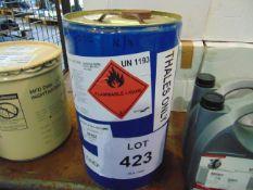 1 x Unissued 25L Sealed Drum of Methyl Ethyl Ketone