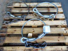 3 x Gunnebo 13.2 Ton Wire Rope Slings