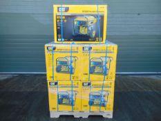 QTY 5 x UNISSUED Caterpillar RP2500 Industrial Petrol Generator Sets Dual Voltage 110/230 Volt