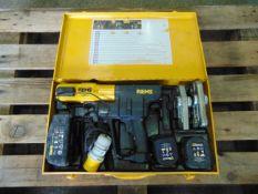 REMS 578012 Mini Press CRIMPER ACC c/w 2 x 14.4 v Batteries, Charger, Steel Case etc