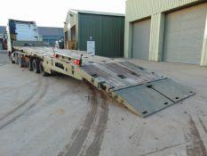 2002 Oldbury Tri Axle Sliding Deck Plant Trailer