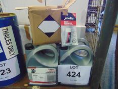 4 x Unissued 5L Cans of Gardner Denver High Pressure Lubricating Oil & 10 x Jenolite Rust Remover