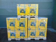 QTY 10 x UNISSUED Caterpillar RP2500 Industrial Petrol Generator Sets Dual Voltage 110/230 Volt