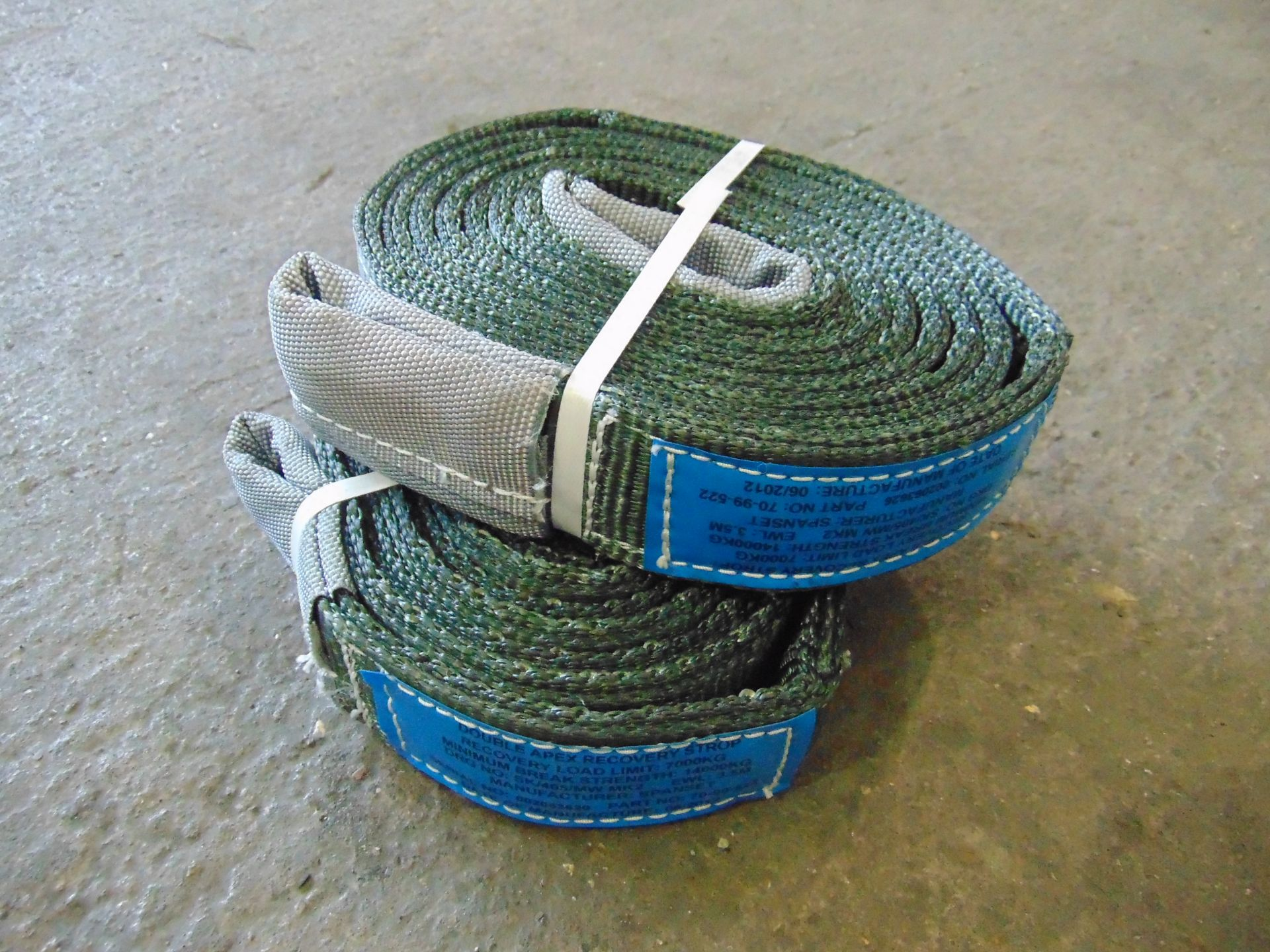 2 x SpanSet 7000Kg 3.5m Recovery Strops new unused