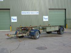 King DB20 2 axle drawbar skeletal trailer