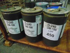 3 x Unissued 25L Sealed Drums of Fuchs OM100 Extreme High Pressure Industrial Gear Oil