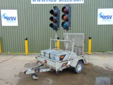 2 Way Traffic Light System c/w Conway Single Axle Trailer