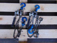 2 x 1/4 Ton Lever Block Chain Hoists