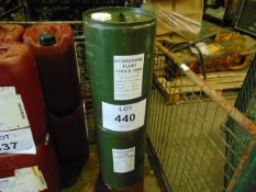 2 x Unissued 25L Sealed Drums of Hydrovane Fluid Force 2000 High Performance Compressor Oil