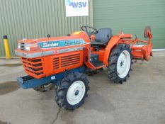 Kubota ZL1-185 4WD Compact Tractor c/w Rotavator ONLY 687 Hours!
