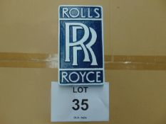 CAST ALUMINIUM ROLLS ROYCE ADVERSITING SIGN