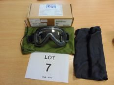 CAM LOCK SAS ANTI MIST PARACHUTE GOGGLES New unissued in original box with case