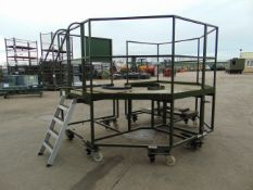 Moveable 2 Piece Access Platform c/w Guard Rail, Access Steps, Jacks etc