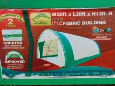 Heavy Duty Storage Shelter 20'W x 30'L x 12' H P/No 203012R