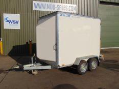 Direct UK Govt Dept.Twin Axle Blue Line Box Trailer c/w Rear Roller Shutter