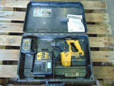 DeWalt DC223 24V Cordless SDS Rotary Hammer Drill c/w 2 x Batteries & Charger