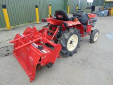 YANMAR F145 4x4 COMPACT TRACTOR C/W ROTAVATOR 625 HOURS ONLY