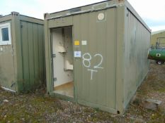 20 FT ISO CONTAINER ABLUTION UNIT WITH 6 TOILETS, URINAL AND SINK UNITS