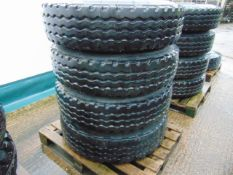 4 x Continental HSC Construction 12.00 R20 Tyres on 10 Stud Rims