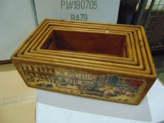 5x WOODEN DISPLAY BOXES LONDON SCENES