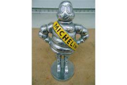 "15"" Polished Aluminium Detroit Reg 1918 Michelin Man"