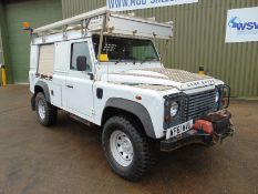 2011 Land Rover Defender 110 Puma hardtop 4x4 mobile workshop with Winch Etc. From UK Utility Co.