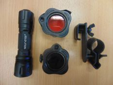 WOLF EYES SNIPER TACTICAL FLASH LIGHT C/W WEAPON MOUNTS AND FILTERS