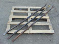 3 x Large Breaker Wrecking Crowbars