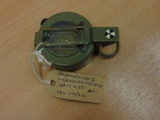 STANLEY BRASS PRISMATIC MARCHING COMPASS STANDARD BRITISH ARMY ISSUE GRADNATED IN MILS C/W POUCH