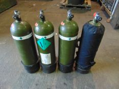 4 x Breathing Apparatus Cylinders