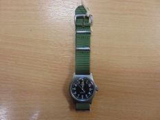 CWC W10 BRITISH ARMY ISSUE SERVICE WATCH NATO MARKINGS DATED 1997