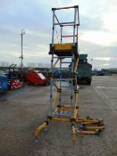RAZOR DECK X-TRA SELF ERECTING TOWER PLATFORM C/W LEGS ETC. 2M-150 KG