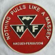 Unissued Massey Ferguson Cast Iron Wall Plaque