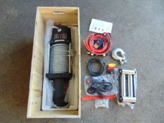 ** NEW/UNUSED ** 20,000LBS Electric 12 Volt Recovery Winch c/w Controls Fitting Kit