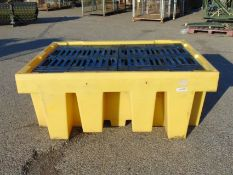 Bunded Double Container Spill Pallet